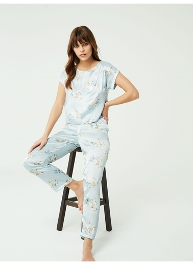 Nbb Saten Pijama Takımı 3380 Mavi